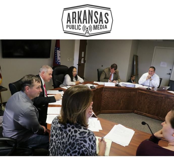 Arkansas's Alcoholic Beverage Control Division chief Mary Robin Casteel (at bottom) will join Arkansas Medical Marijuana Commissioners Dr. Carlos Roman, James Miller, Dr. Ronda Henry-Tillman, Stephen Carroll and Travis Story tomorrow.
