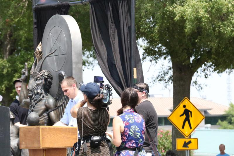 Chad Jones is a Conway-based minister with Arkansas Progressive Christians who spoke at The Satanic Temple's unveiling of its Baphomet statue.