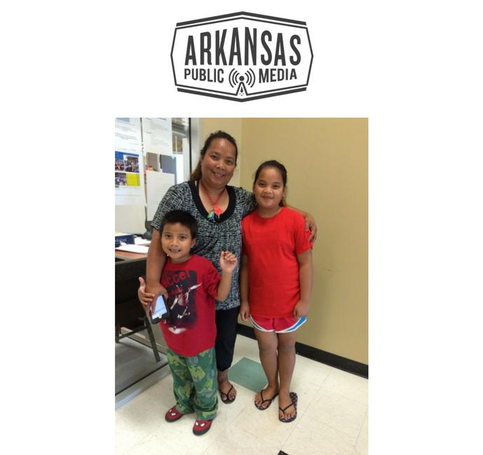 Springdale Marshallese resident Fressana Lawin says two of her three children are now enrolled in a college savings program.