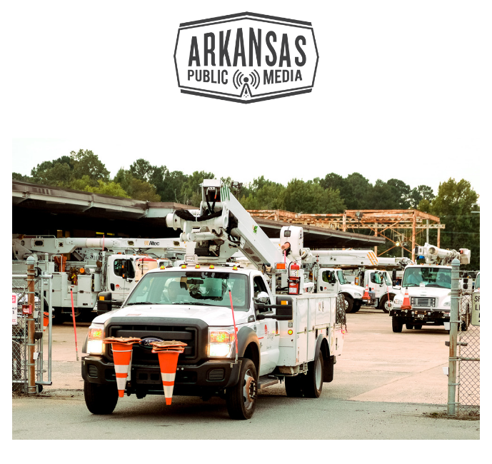 Utility crews from Arkansas are headed to the states affected by Hurricane Florence under a mutual aid agreement.