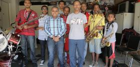 Members of the Young Ethio Jazz Band