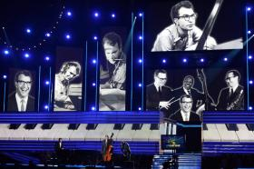 Dave Brubeck received a posthumous tribute at the 2013 Grammy Awards.