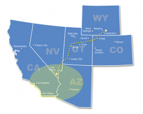 TransWest Express LLC wants to build and operate an electricity transmission line. House Bill 44 would require TransWest to offer capacity on its line to Utah companies. Investor-owned TransWest says its too soon for contracts like that that and vows to sue if lawmakers pass the bill.
