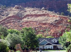 Watchman landslide in Springdale.