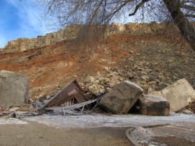After the slide in the Utah Geological Survey study area.