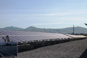 Solar farm run by Salt Lake City at former landfill site at 1965 West 500 South.