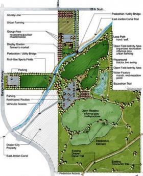 Master Plan of Wheadon Farm Park in Draper.