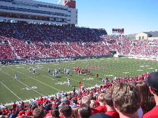 Football fans fill Rice-Eccles Stadium at the University of Utah