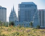 The Mormon temple in downtown Salt Lake City.