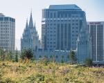 The Mormon temple in downtown Salt Lake City.