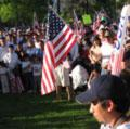 'Day Without Immigrants' rally gather in Liberty Park, Salt Lake City, UT.
