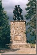 """A monument at California's <a href=\""""http://www.parks.ca.gov/?page_id=503\"""" target=\""""_blank\"""">Donner Memorial State Park</a> commemorates the plight of the ill-fated group."""