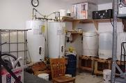 Kevin Neuman's biodiesel set-up in his home garage.