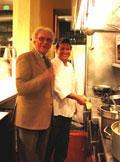 Valter Nassi with chef Memmo Torres.