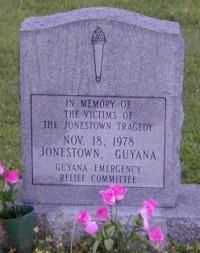 A stone in Oakland, California commemorates the unclaimed victims of the 1978 Jonestown Massacre.