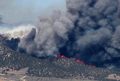 File: Quail Fire burns near Alpine, UT during the Summer 0f 2012