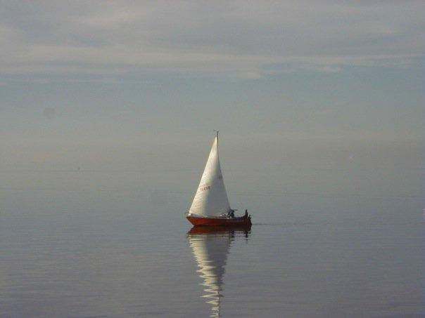 Sailboat on the Great Salt Lake