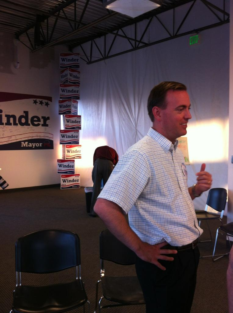Salt Lake County Mayor Republican primary candidate Mike Winder at his election night event.