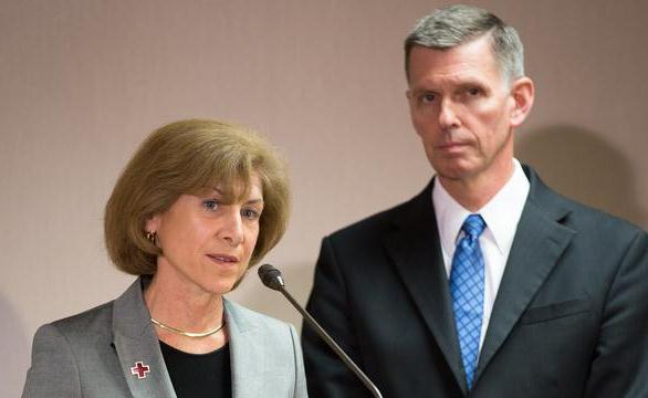 Gail McGovern with Steven Peterson