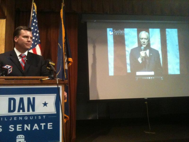 Dan Liljenquist debates video clips of Senator Orrin Hatch in a mock debate.