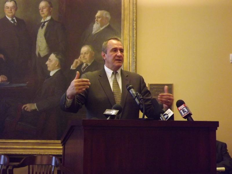 Utah Attorney General Mark Shurtleff at the Capitol Monday.