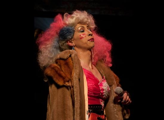 Aaron Swenson as Hedwig in Hedwig and the Angry Inch