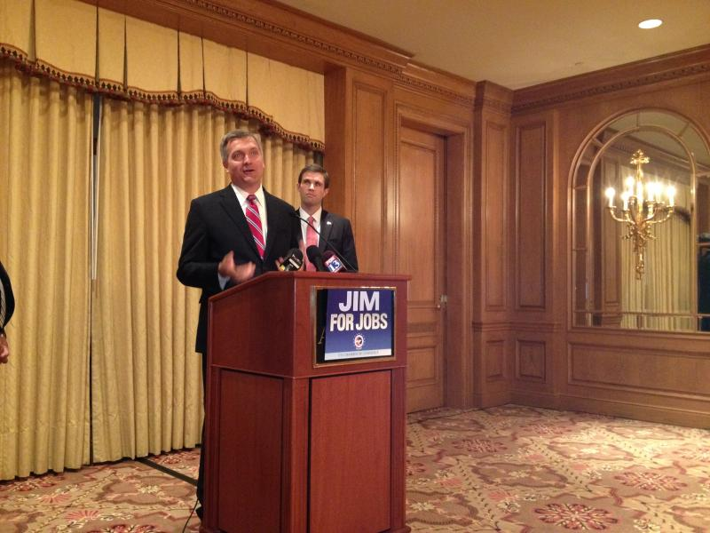 Rep. Jim Matheson accepts an endorsement from the U.S. Chamber of Commerce.