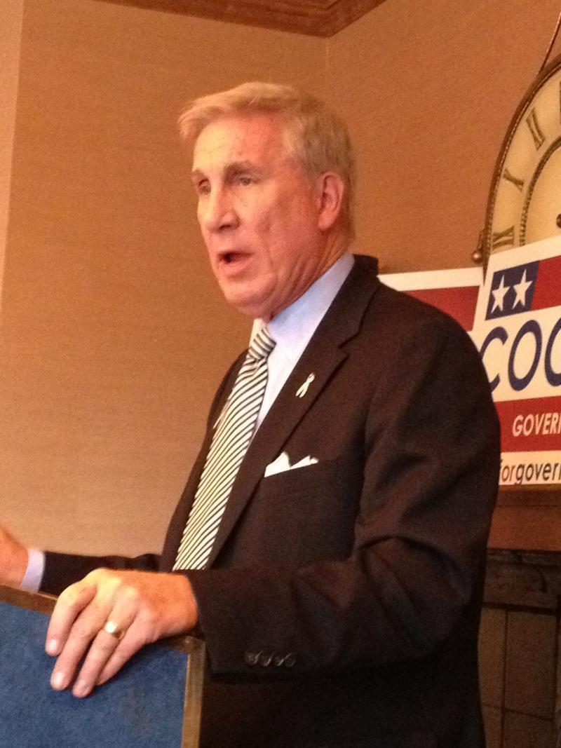 Democratic Gubernatorial candidate Peter Cooke speaks to leaders from Utah's minority communities