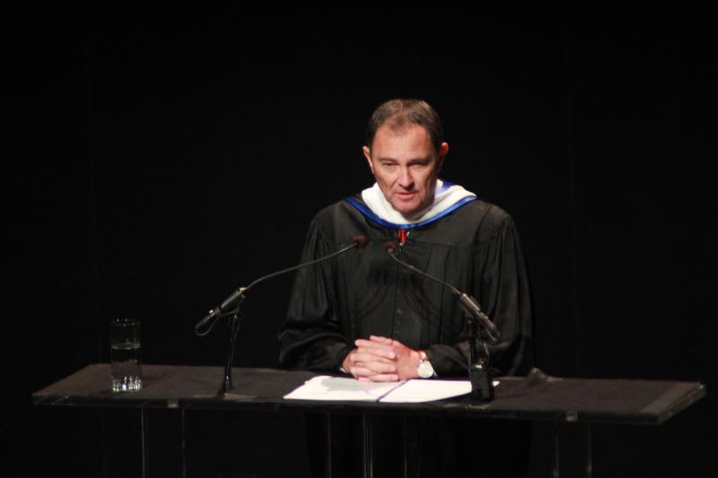 Governor Herbert speaks at President Pershing's Inauguration