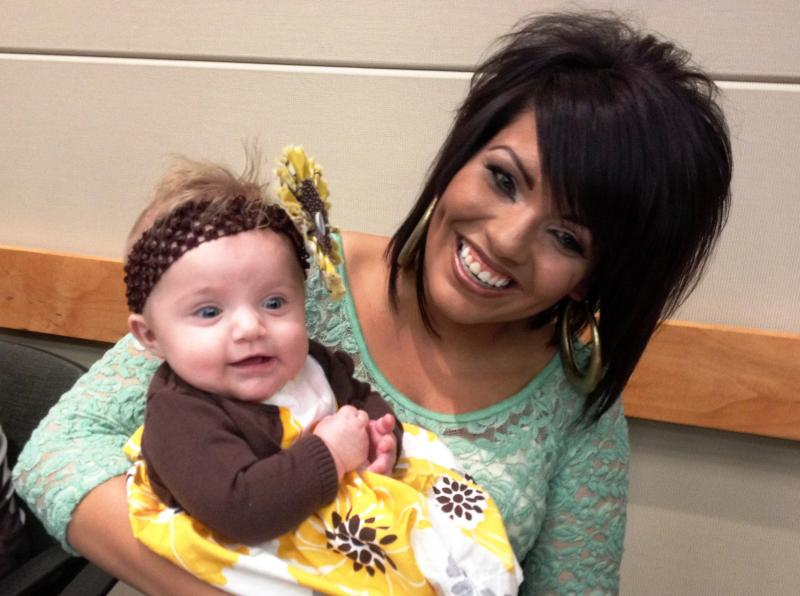 Intermountain Medical Center's first liver tranplant patient Kristen Torres celebrates five years of life with her daughter Liberty.