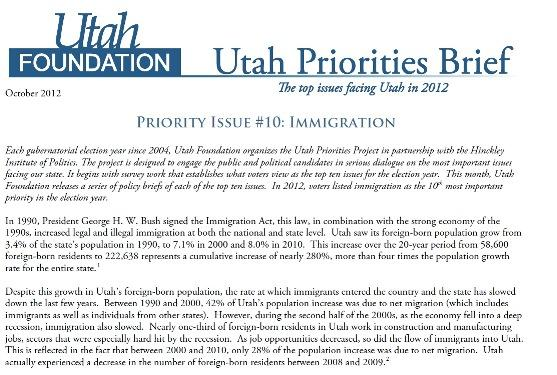 Utah Priorities Project issue brief
