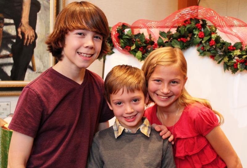 Children in the cast Fynn White, Noah Mayfield, and Maggie Scott