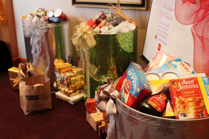 Pioneer Theatre's cast and crew were the first to donate for their Holiday Food Drive.