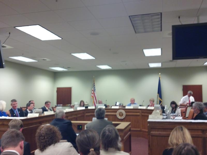 Senator Stuart Reid presents draft legislation to the Health and Human Services Interim Committee