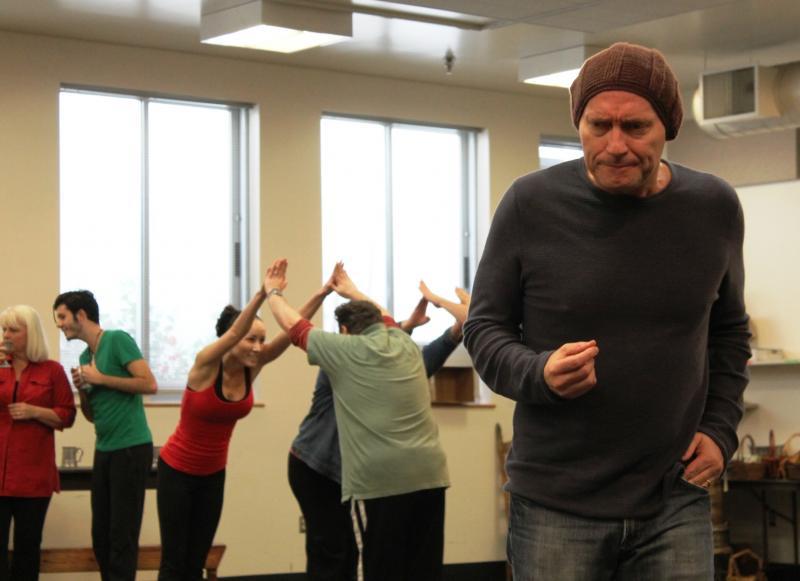 Actor Jamie Jackson plays Scrooge.