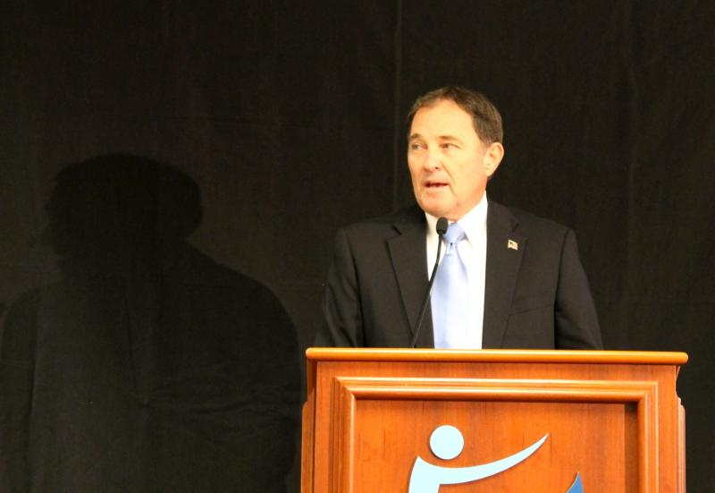 Governor Gary Herbert delivers his budget proposal at Granite Technical Institute on December 12th, 2012.