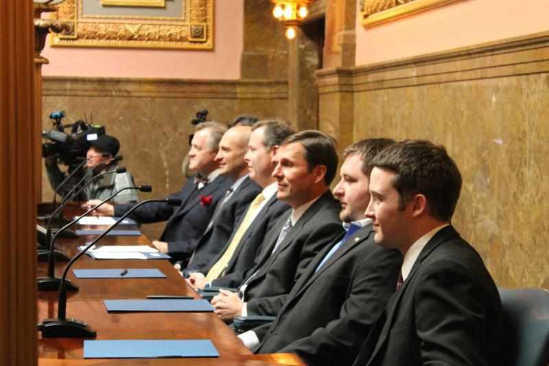 Utah's presidential electors meet at the state capitol.