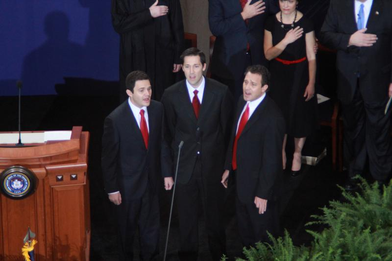 Governor Gary Herbert's sons sing the National Anthem