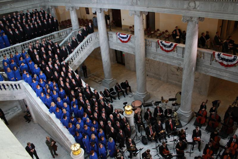 The Mormon Tabernacle Choir sings at the 2013 State Inauguration ceremonies