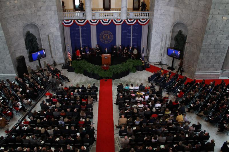 Governor Gary Herbert gives his inaugural address