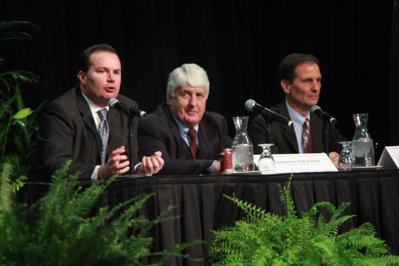 Senator Mike Lee, Congressman Rob Bishop, and Congressman Chris Stewart speak at the Governor's Energy Development Summit