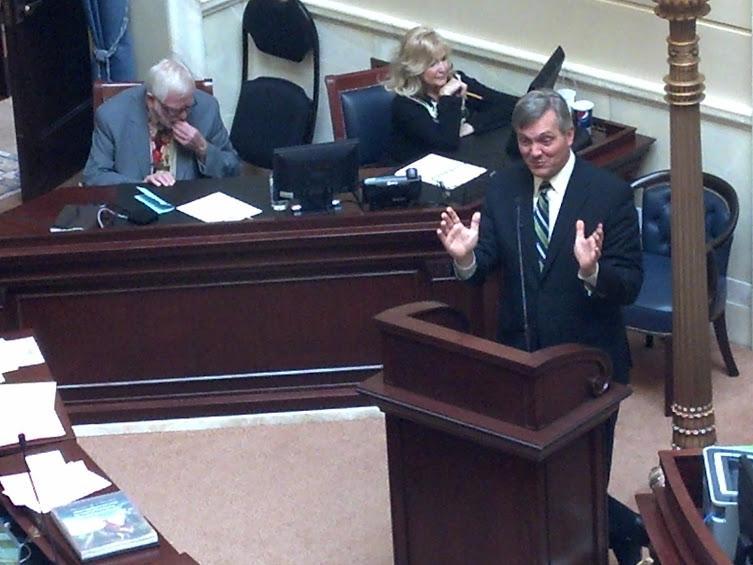 Congressman Jim Matheson, D-Utah, speaks to the Utah Senate