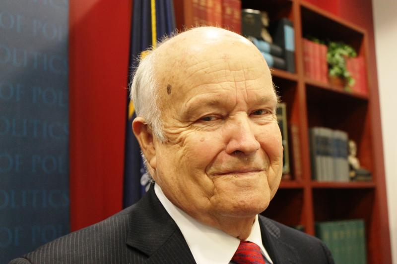 Dan Jones was honored at the Hinckley Institute of Politics for more than 50 years of work as a political pollster and political science teacher.