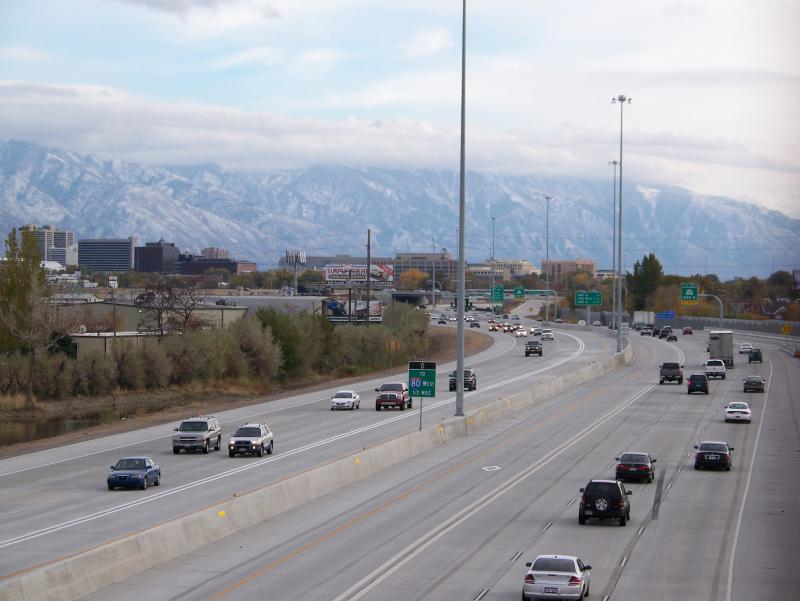 Interstate 15 in North Salt Lake, the area of the most recent cable theft.