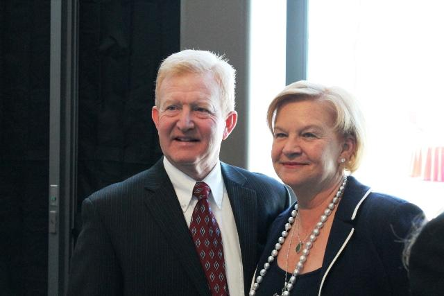 John H. Wright, Project Manager, Jacobson Contruction and Claudia Skaggs Luttrell, Member of the Board of the ALSAM Foundation