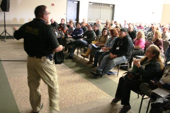 Detective Jamie Cardenas with Gangs 101 Seminar during the 23rd Annual Utah Gang Conference April 10th and 11th.