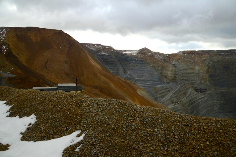 North wall of the Bingham Canyon Mine after the slide