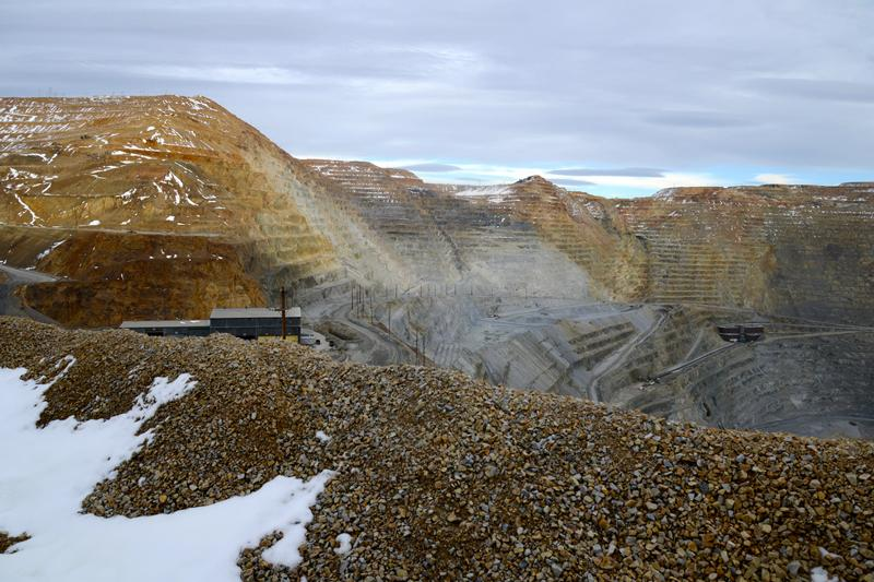 North wall of the Bingham Canyon Mine before the slide