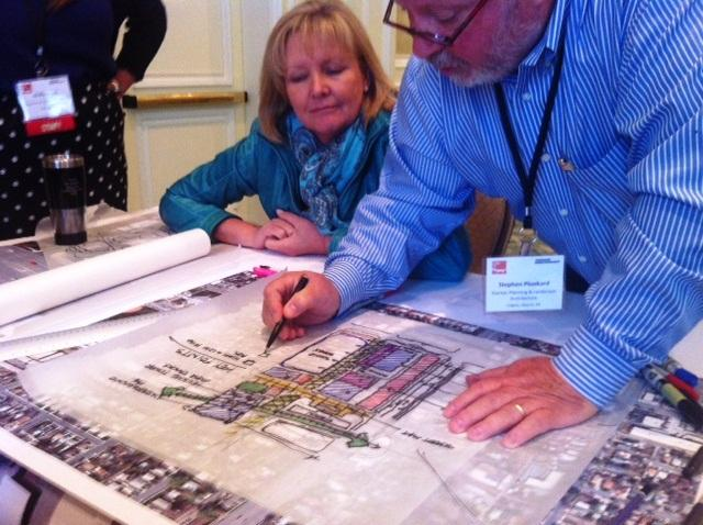 Convention goers map out plan for Sugar House neighborhood.