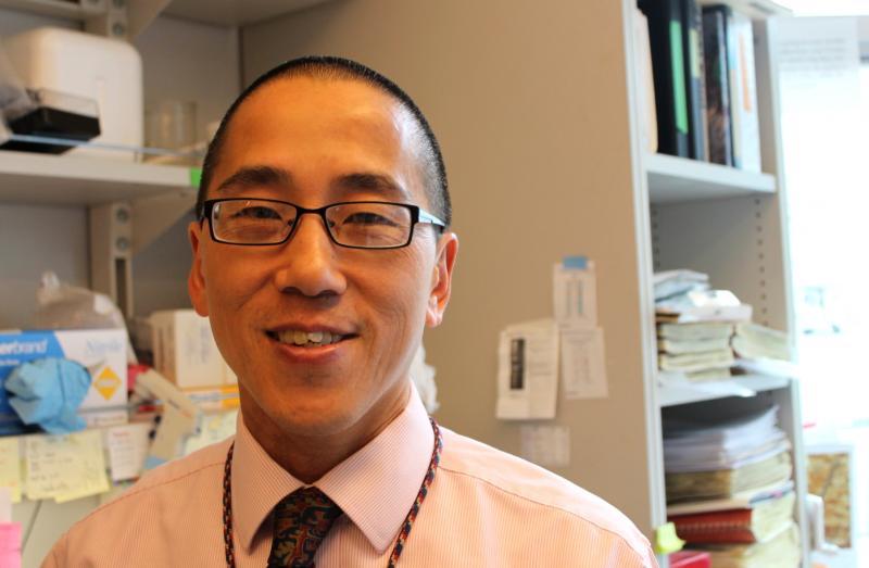 Cardiologist Dean Li in his lab on the University of Utah campus